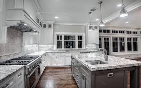modern kitchen white ice granite countertops modern kitchen lighting white cabinets