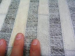 cowhide leather patchwork floor area rug avik lines natural close image