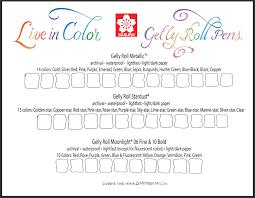 Sakura Poster Color Chart Thanksgiving Gifts Giveaways Zenspirations
