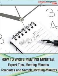 How To Write Meeting Minutes Free Business Management Daily