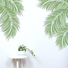 palm leaf stencil the tropical palm leaf stencil can be used to create a stunning tropical