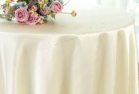 120 round satin tablecloth ivory 55802 1pc pk