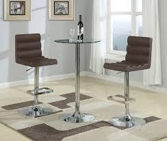 Modern Pub Table Set Modern Pub Table Set Round Small Glass Bar Table Chrome Metal Base