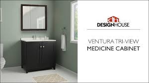 Design House Medicine Cabinet Design House Tri View Medicine Cabinet Product Overview
