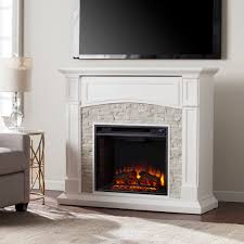 amazing white electric fireplace in 45 75 seneca electric media fireplace white w white faux stone