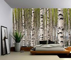 Landscape Birch Forest, Self-adhesive ...