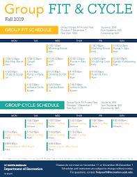 Cycling Class Schedule