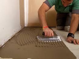 Flooring  How To Tile Floor Lay Ceramic Bathroom Over Vinyl - Installing bathroom tile floor