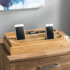 charging station organizer for multiple devices nib john brown valet dresser tray s