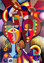 abstract painting of african female face google search