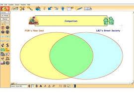Kidspiration Venn Diagram Task New Deal Great Society Webquest