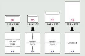 35 Comprehensive Letter Envelope Size Chart