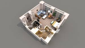 Small Apartment Floor Plans D - Studio apartment floor plans 3d