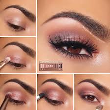 spring and summer friendly glossy eyes makeup for brown eyes