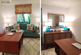 home office home office makeover emily. Emily Henderson_Home Office_Feminine_Modern_Airy_Bright_Blue_Pink_Side By Side_BEFORE Home Office Makeover I