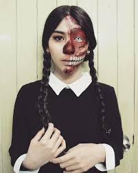 i ll stop wearing black when they make a darker color wednesday addams makeup look was inspired by luvekat s work