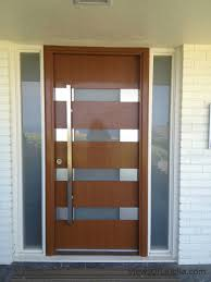 contemporary wood door decor ideas