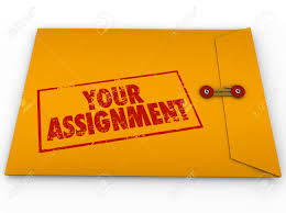 24833708 Your Assignment Words In Stamp On Yellow Envelope
