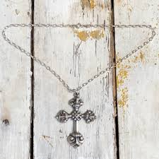 Huge James Avery Baroque Cross Necklace in Sterling Silver - Yourgreatfinds