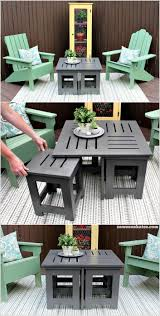 diy outdoor coffee table ideas tables clever built with end glass patio metal furniture