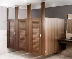bathroom stall walls. Ironwood Ceiling Hung Toilet Partition With Louvered Doors Bathroom Stall Walls R