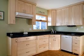 Cool Small L Shape Kitchen Design Using Light Sage Green Kitchen