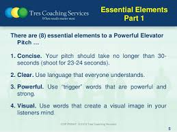 30 Sec Elevator Speech How To Improve Your 30 Second Elevator Pitch