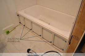 how to build a tub skirt step 2 attach frame to the tub with