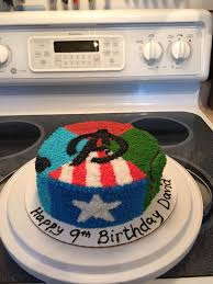 Avengers Cake Made With Buttercream Frosting Avengers