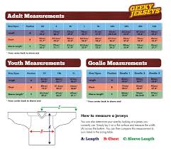 Ccm Youth Apparel Size Chart 48 Logical Ccm Hockey Jersey Sizing Chart
