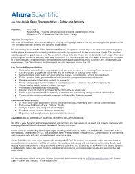 Resume Objective Inside Sales Representative Inspirational
