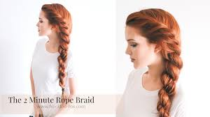 Plaits Hairstyle the 2 minute rope braid hairstyle hairstyle the freckled fox 4533 by stevesalt.us