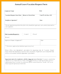 vacation forms for employees annual leave form template request application word of absence free