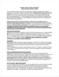 Cover Letter Examples Law Enforcement No Experience Resume Your