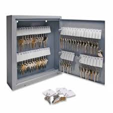 Wall Mount Cabinet With Lock Key Cabinet Storage 60 Keys Safe Lock Box Organizer Hook Steel