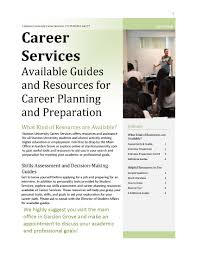 career services stanton university catalog 2017 page 1