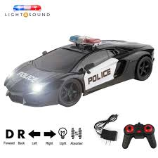 Remote Control Police Car With Working Lights And Siren Amazon Com Rc Toy Car Remote Control Police Car Cruiser Toy