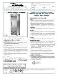 download free pdf for true t 72f freezer manual true t-72f spec sheet at True T 72f Wiring Diagram