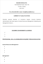 Academic Resume Template For College College Resume Templates Free