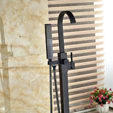 freestanding tub faucet oil rubbed bronze modern bathtub filler floor mount with mixer taps in shower
