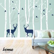 white chandelier wall decal birch tree wall decals set of 8 birch tree wall  decal nursery