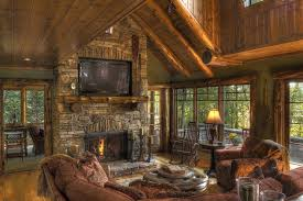minneapolis cultured stone fireplace family room traditional with cottage wooden wood grain wall panels vaulted ceiling