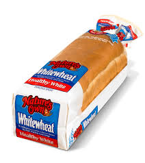 then there s nature s own white wheat bread for 55 calories a slice