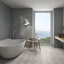 boulevard grey and beige patterned floor tiles