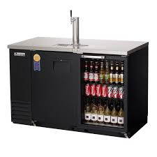 57 75 wide back bar direct draw commercial keg refrigerator with solid glass doors