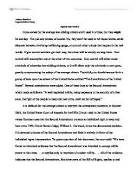 essay on gun control against argument against gun control second amendment the right to