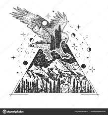 вектор творческого геометрические орел татуировки арт стиль дизайн