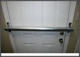 Door Front Doors Door Ideas Double Security Bar Latch Screen Gun