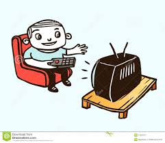 boy watching tv clipart. royalty-free stock photo. download watching tv boy tv clipart