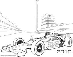 Indy Raceauto Kleurplaat Gratis Kleurplaten Printen